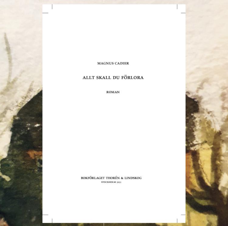 Smakprov på Magnus Cadiers andra roman